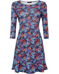 Therapy Bright Butterfly Peplum Dress - Lyst