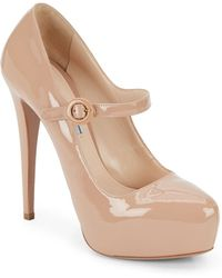 Prada Patent Leather Mary Jane Pumps - Lyst