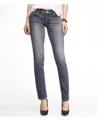Express Low Rise Thick Stitch Skinny Leg Jean - Lyst