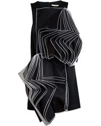 Christopher Kane Satin Crepe Pages Dress - Lyst