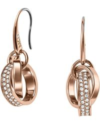 Michael Kors Pave Link Drop Earrings - Lyst