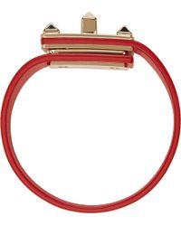 Valentino Vermilion Rockstud Turn_Lock Bracelet - Lyst