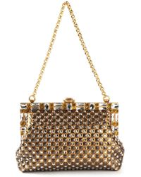 Dolce & Gabbana Gold Sara Clutch - Lyst
