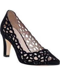 Aquatalia by Marvin K | Pearl Laser-Cut Suede Sandals | Lyst