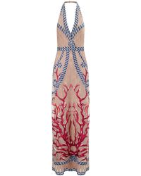 Temperley London Multi Silk Long Coral Dress - Lyst