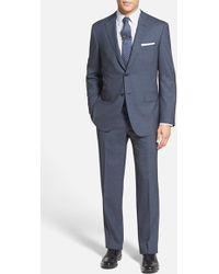 Pal Zileri Men'S Big & Tall Trim Fit Check Wool Suit - Lyst