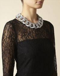 Jaeger - Metallic Resin Chain Necklace - Lyst