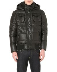 G-star Raw Whistler Hooded Quilted Jacket Black - Lyst