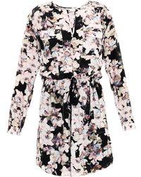 Rebecca Taylor Frost Flower-print Silk Dress - Lyst