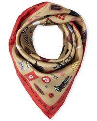 Christian Lacroix | Silk Contrast Print Scarf | Lyst