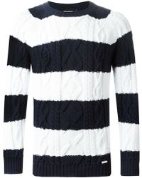 DSquared2 Cable Print Sweater - Lyst