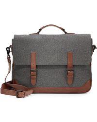 Ben Minkoff - Eastwest Wool Leather Messenger Bag - Lyst