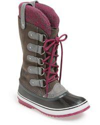 Sorel 'Joan Of Arctic - Knit' Waterproof Boot gray - Lyst