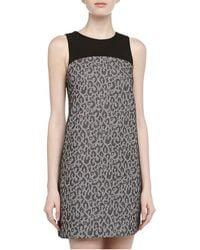 4.collective Leopardprint Jacquard Mini Dress - Lyst