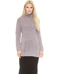 Zero + Maria Cornejo Zero  Maria Cornejo Arah Sweater  Light Blueoatmeal - Lyst