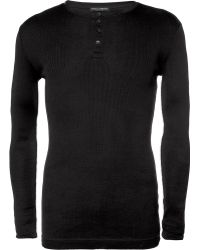 Dolce & Gabbana Ribbed Cotton-Jersey Henley T-Shirt - Lyst