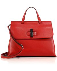 Gucci | Bamboo Daily Leather Bag | Lyst