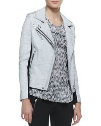 Iro Ilaria Crackled Leatherwool Jacket - Lyst
