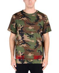 Off White C/o Virgil Abloh Short Sleeve T-Shirt green - Lyst