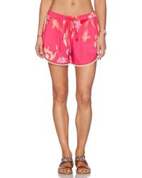 Matthew Williamson Pink Drawstring Shorts - Lyst