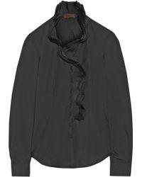 L'Wren Scott Ruffle-Trimmed Shell Shirt - Lyst