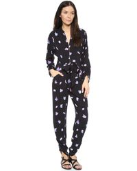Wildfox - Black Crystal Front Tie Jumpsuit - Lyst