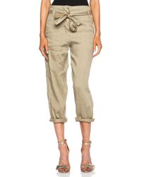 Etoile Isabel Marant Carter Linen-Blend Pant - Lyst