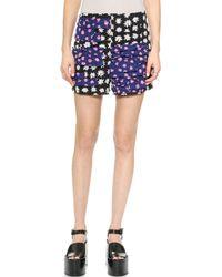 Sonia By Sonia Rykiel Daisy Silk Shorts  - Lyst