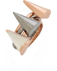 Sarah Magid - Mini Mother Of Pearl Cone Rings Mother Of Pearl - Lyst