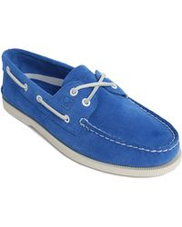 Sperry Top-Sider A/O2 Eye Blue Suede Boat Shoes blue - Lyst