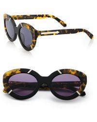 Karen Walker Flowerpatch 50Mm Cat'S-Eye Sunglasses black - Lyst