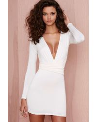 Nasty Gal Alina Dress - Ivory - Lyst