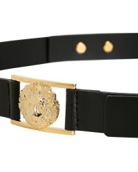 Anthony Vaccarello X Versus Versace Leather Belt with Gold Colored Details - Lyst