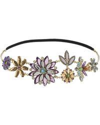 Topshop Jewelled Stone Flower Headband - Lyst
