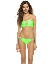 Mikoh Swimwear Sunset Bandeau Bikini Top - Flamingo - Lyst