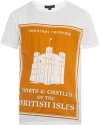Burberry Prorsum Book Cover-Print T-Shirt orange - Lyst