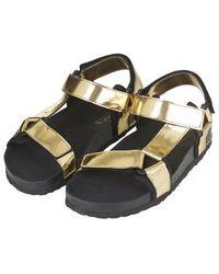 Topshop Funki Reef Sandals gold - Lyst