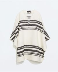 Zara Front Opening Cape - Lyst