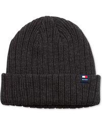 Tommy Hilfiger Solid Cuff Hat - Lyst