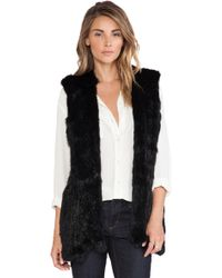 525 America Hoodie Rabbit Fur Vest - Lyst