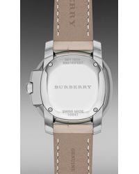 Burberry Brit - The Britain Bby1950 26mm Diamond Indexes - Lyst