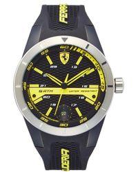 Scuderia Ferrari - 'redrev T' Silicone Strap Watch - Lyst