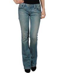 Antik Denim - Faded-Effect Straight-Leg Denim Pants - Lyst
