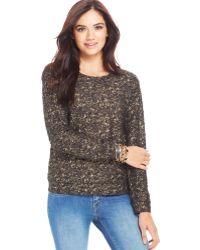 Jessica Simpson Johanna Metallic Sweater - Lyst