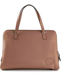 Gucci Embossed Logo Tote - Lyst