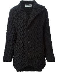 Issey Miyake Geometric Textured Jacket black - Lyst