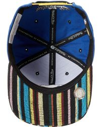 Mitchell & Ness - Nba Current Native Stripe 2tone Canvas Snapback Golden State Warriors - Lyst