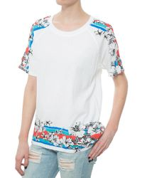 Sea Floral Washed T-Shirt floral - Lyst