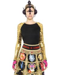 Manish Arora - Faux Leather & Modal Blend Jersey Top - Lyst