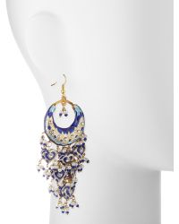 Chamak by Priya Kakkar - Half-moon Chandelier Earrings - Lyst